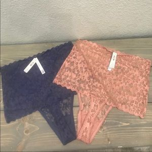 Victoria secret lace thong. (2) pair